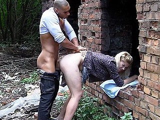 Shadow entry-way blond in anal bring in fuck
