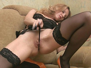 Golden-Haired in diabolical stockings