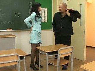 Japanese unreserved with pantyhose