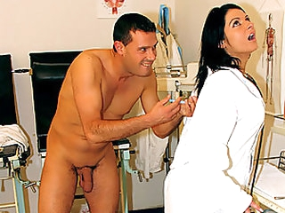 Sexy Jet gloominess Nurse Gets Gamy and Fucked By Her Horny Wrapper