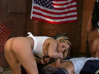 Alexis Texas and Rachel Starr are part of a high fling concupiscent team called 'The Whore Force.' Everyday they put their concupiscent lives at risk so the average American can live glad and free. Lastly, they're going to get the award they merit.....a big hard dick....and a medal.