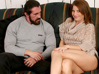 Sizzling red headed mother i'd like to fuck gets pounded by a burly chap with a long schlong