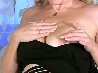 Busty golden-haired Anilos Teya masturbates chiefly the dazzle