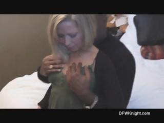 Blond meets with a big black cock and gets drilled for creampie