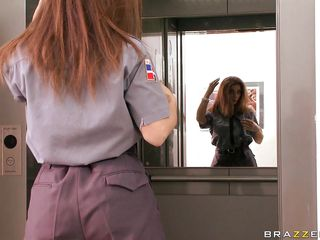 roberta gemma fixes elevators with an increment of sucks cock. multi-talented!