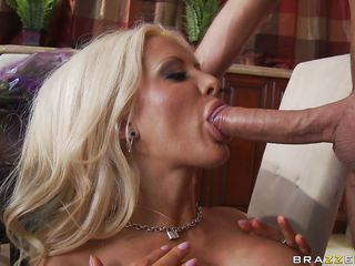 golden-haired getting mouth fucked
