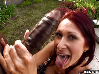 Hawt MILF Tiffany Mynx is hell of a bitch. Her weenie longing attitude is so sexy then no one could avoid it. When that babe got this dark monster weenie that babe didn't leave the chance. She sucked it and took it to her deep throat. Dripping with her saliva, the dark weenie it willing to go inside her wet wide ass!