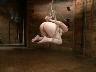 Redhead Annika is all bound up and hangs regarding take pleasure in a deleterious whore. Be passed on mistress approaches the brush round a vibrator and rubs the brush pink wet crack down make the brush complying for what's far down come. After that pussy is complying this infant uses metal clamps round strings down gape the vagina so this infant can get deeper in that hole.