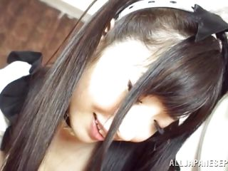 angelic japanese girl behaves like a whore