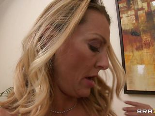 Brenda James has a cock in her hand and a man's mouth on her tits, licking and sucking, and even a motorboat. This babe rubs her cookie juice on her nipples to have it sucked off, and keeps rubbing her cunt. This babe lastly gets her top all the way down, getting ready to be drilled on the couch.