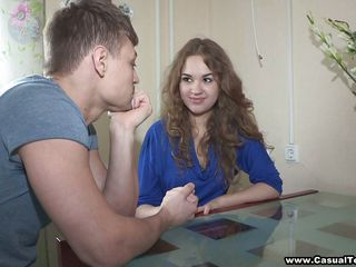 Really hot legal age teenager with consummate tits acquires pleasant talked to fuck with this lucky guy. She takes off her clothes and bra and we can watch her marvelous tits. She is willing now to fuck her pink legal age teenager pussy