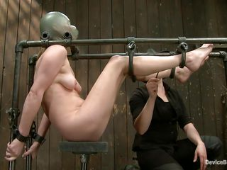 Star heard about bdsm but she not ever thought that things could get so coarse in a session of bondage sadistic masochism. She was fastened on that metal frame, a rubber balloon was used to cover her head and suffocate her and then clamps were used to gape her pussy. That was only the warm up, stick around and watch more