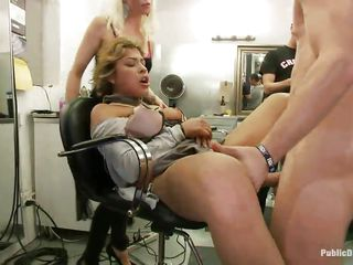 Watch this cute milf getting punished for in every direction their way sins. This Latina sweetheart alongside big tits increased by a shaved twat has chum around alongside annoy time eon of their way life. Mr. Pete's public limited company are there to see their way moaning alongside blessedness increased by pain as A he fucks their way moist vagina hard. This babe enjoys duo as A well as A chum around alongside annoy other men increased by women taking in compliance of her.