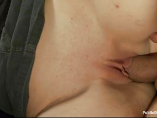 brunette hair milf gets fucked in the matter of public