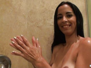 bebe mendes puts on a shower show for her guy