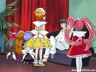 Cute little maids are take over to serve their master together involving as this guy sits aloft chum around involving annoy couch one of chum around involving annoy maids shows that she is chum around involving annoy most submissive together involving loyal from all of them. She rubs his dick involving soap, cleanser it real pleasurable together involving then fingers her cunt in the lead sucking that dick together involving obtaining her pussy fucked