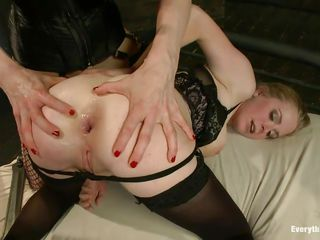 two blondes, one rod and a welcoming dark hole