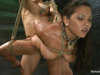 adriana is tied and fucked by a bare-ass muscled stud