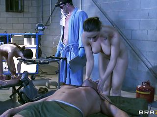 chanel preston and rachel roxxx rocked chum around with annoy lab with superb enjoyment from