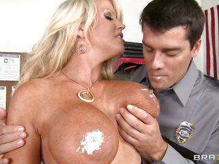 Officer of the law got this busty milf in the jail solely to find out that this guy will require lot greater quantity than those bars to keep her pegged in. she also puts his own rod through a stern test as this guy squeezes her booty and then her breasts before this guy licks her bra buddies and kiss her to get her to give him oral stimulation