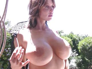 babe chaffing with her natural fantastic tits