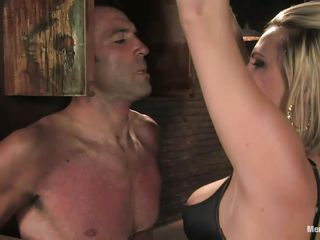 bossy blond milf dominating her man