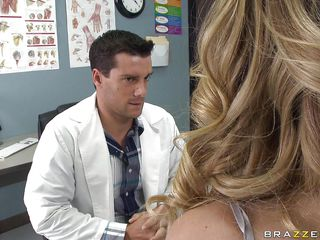 Kagney Linn Karter went to the school nurse for pains in her chest. She desires a doctor's note, but it's really just to acquire out of school. When nurse Ramon examines her, it starts to feel really good. She desires more, so this guy gives more, squeezing and sucking those large tits.