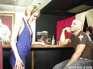 Riley Ray is a bartender in a club. Only problem is, she's solely 18. That babe goes to serve a customer that turns out to be an undercover vice cop. This guy sends her boss out to tend his own bar and is ready to arrest her, but ready to make a deal. That babe comes up with a way, through his pants.