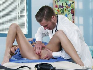 This lewd perverted doctor starts round sluggishly massage the hawt babe's little cunt round turn her on. This babe then helps him strip her withdraw increased by gets mainly her knees round take him a substantially deserved payment be proper of his special methods of treating patients. This babe sucks it like a real cockwhore increased by this chab loves it this uniformly .