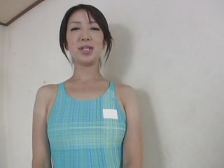 This oriental bitch still has a beautiful body and a lustful mind. This babe a mature bitch with smoking hot thighs, a naughty booty and a pair of tits that are perfect for groping and sucking. The young male enjoys her body and rubs her pussy with a vibrator and maybe later with his cock