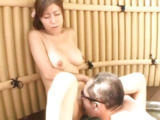 Hot japanese slut Chihiro has her pussy licked by her horny boyfriend. Then, this babe stands on her feet and kiss him in advance of grabbing his hard wang with her dirty mouth. On her knees and with a rod in her throat is the best thing for her! The wench spreads her legs and let him stick his 10-Pounder in her tiny vagina.