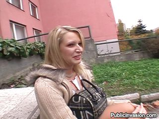 youthful vanessa is horny in the park