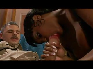 swarthy police babe gets interracial from co worker