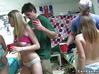 some crazy college strip