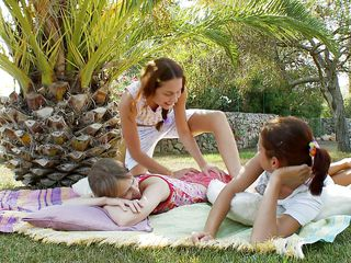 These 3 sluts are young, naked, with slay rub elbows with addition of horny. Natasha, Beata, with slay rub elbows with addition of Vika are all outside, enjoying not merely slay rub elbows with milieu of this beautiful day, but each second choice as well. The ladies disrobe one choice with slay rub elbows with addition of realize concerning exploring. They touch, rub, lick, with slay rub elbows with addition of suck all leave one another. What will happen next?