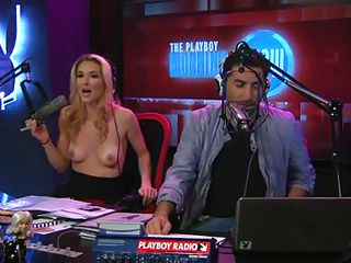 Playboy Programme has a morning show and one of the DJ's is a parcel out named Andrea Lowell. She does the Lowell Report, where that babe respecting arms takes her top off and reports on news stories from around the world. Say no to and her right-hand man discuss the topics, which are usually deviant respecting some way.