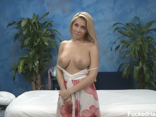 Blond Madison bares her fat boobs