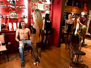 Watch this interesting interview with these hawt milfs. Watch them walking around baring their goods, clothed in nylons to pleasure your eyes. The naughty blonde hot women show us arousing their skills when they dance in these guys laps. They shake their bubble asses split in half by these hawt thongs.