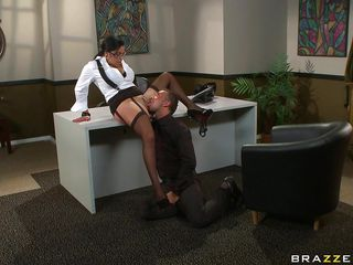 hot brunette receives her pussy disjointed