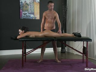 asa akira receives her a-hole massaged