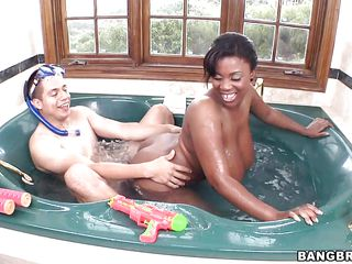 interracial jacuzzi fuck with maserati