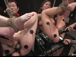 see these 2 beauties getting aroused in bondage