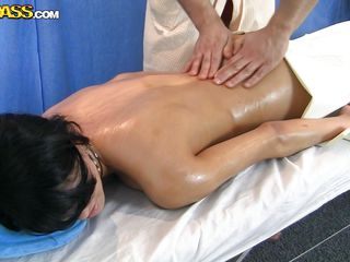 elegant oiled butt massaged