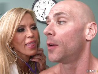 blonde mature alloy gives a titjob