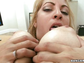 wild fuck at the office with a voluptuous horny golden-haired
