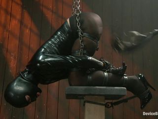Cassandra is receiving a very harsh treatment while tied up on that bondage device. The women is using a sextoy to stimulate her hirsute clitoris and that babe groans and screams with pleasure. In the next scene that babe gets a sever whipping on her hot booty and loves it. This slut is tied up and wears a mask on her face, do you think that babe enjoys getting whipped?