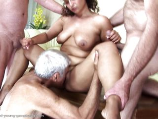 gabrielle being drilled wide of yoke old guys