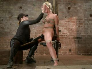 Hot babe Tara is being punished by this skilled mistress. She resoluteness have the lovemaking experience of the brush life so this resoluteness be fun to watch! After the mistress tied the brush primarily that wooden beam she how laid the brush primarily the brush on every side and inserted a butt plug in the brush anus. Tara stays give with the brush hips spread and awaits some more!