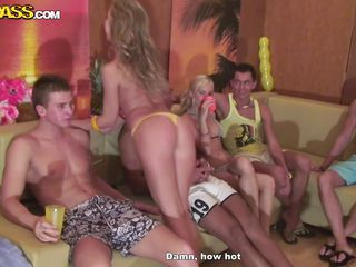 college fuck party on the sofa