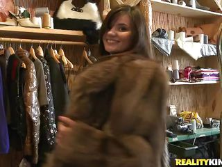 See these two hot brunette hair chicks in a store having a naughty time together. Some dude offers 'em money to do some hot lesbian act for him. See the chicks that agreed to do so. See 'em undressing and enjoying each other's hot bodies. They kiss, lick nipples, and and engulf pussy with pleasure!